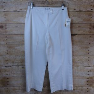Coldwater Creek Stretch Twill Crop Pants NWT